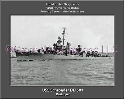 USS Perry DD 844 Personalized Canvas Ship Photo Print Navy Veteran Gift