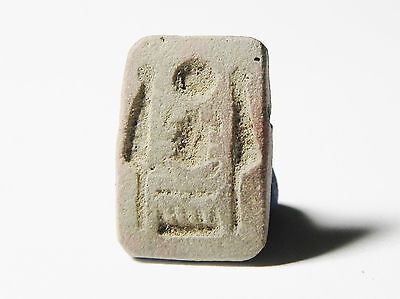 Zurqieh -Ancient Egypt - Rare Terracotta Bead With Cartouche Of Thotmoses Iii