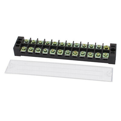 600V 25A Dual Row 12P Screw Electric Wire Connection Barrier Terminal Strip