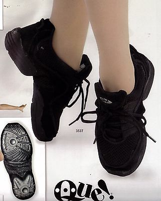 NEW/box Black Mesh Dance Sneakers Little people & Large Hip Hop Great turnspot