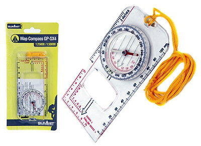 Summit Delux Map Reading Compass Walking Hiking Orienteering Army Scouts Camping