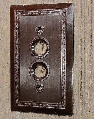 single push button Switch Plate brown Bakelite vintage 1900's Leviton USA!