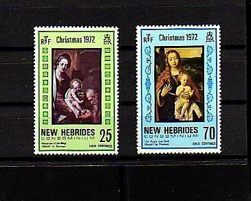New Hebrides -1972 - Christmas - Paintings - Mint  Set!
