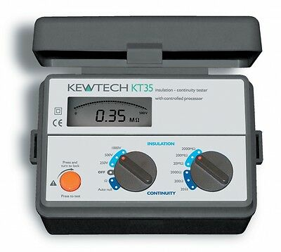Kewtech KT35 Digital Insulation Continuity Tester New Including 12M Cal Cert