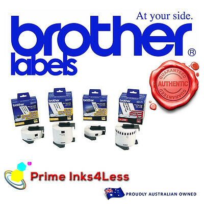 3 x Brother DK-22211 DK 22211 White Continuous Film Roll - 29mm x 15.24m