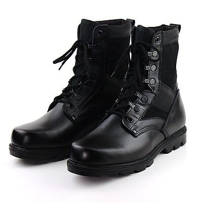 Outdoor Womens Genuine Leather Cargo Tactical Boots Jungle Army Military Boots