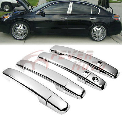 Triple Chrome Door Handle Cover Trim For Nissan Altima Maxima Sentra Quest FM