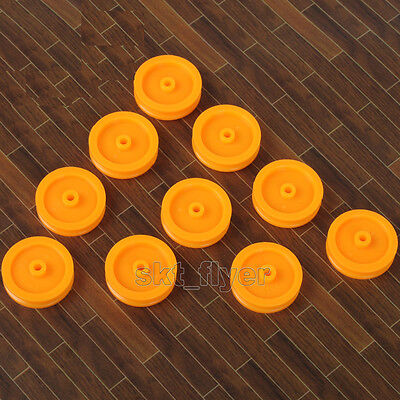 10pcs Small Orange Pulley 17*14*1.9 for DIY Toys Robot Module Car Hobby