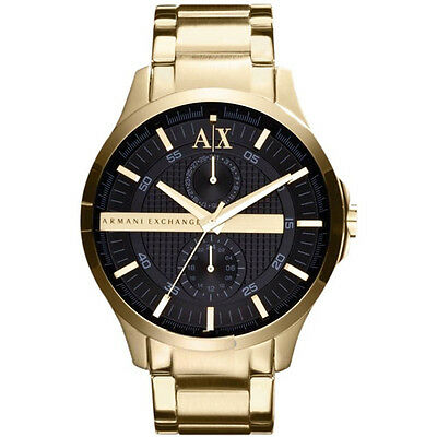 New Armani Exchange Mens Gold Pvd Chrono Sports Watch - Ax2122 - Rrp £185