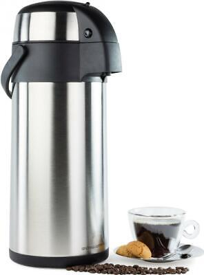 Andrew James 5L Hot Water Urn Airpot Flask Pump Action Catering Tea Coffee Event
