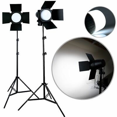 2 x Photo Studio Photography Light LED Lighting Stand Kit 3300lm Day Light Lamp