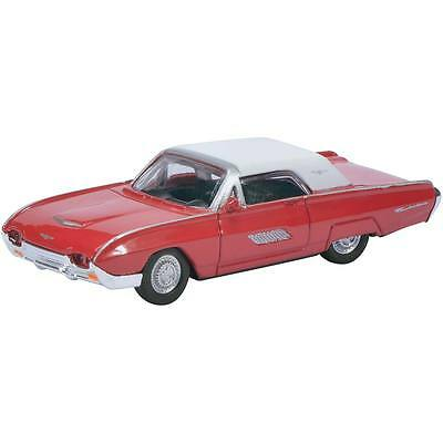 NEW Schuco 1/87 1963 Ford Thunderbird Red w/White Roof 2612000