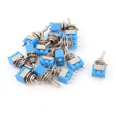 AC 125V 6A SPDT ON-ON 2 Positions 3 Pin Latching Micro Toggle Switch 15 Pcs
