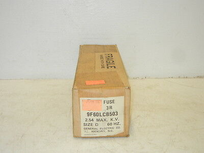 General Electric 9F60Lcb503 New Motor Starter Fuse 3R Size D 2.54 Kv 9F60Lcb503