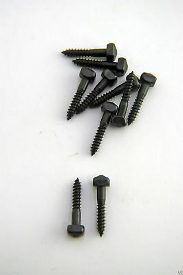 Wood Screws Pyramid Square Head Steel Black Oxide #8x1 PS81