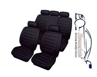 Bloomsbury Black Leather Look 8 PCE Car Seat Covers For VW Bora Golf Polo Passat