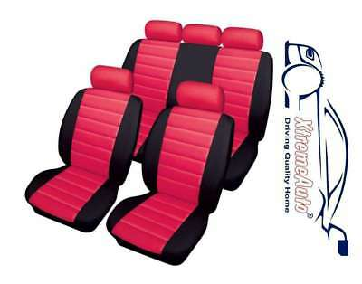 Bloomsbury Black/Red Leather Look Car Seat Covers For Vauxhall Astra Corsa Insig