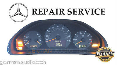 REPAIR SERVICE for MERCEDES BENZ W210 E320 E430 E55 DASH INSTRUMENT CLUSTER LED