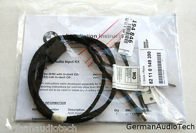 Bmw E39 E53 X5 Cd Player Radio Mp3 Aux Auxiliary Input Adapter Kit Ipod Iphone