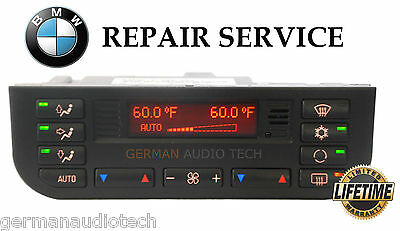 REPAIR SERVICE for BMW E36 DIGITAL CLIMATE CONTROL AC HEATER 1996-99 318 328 M3