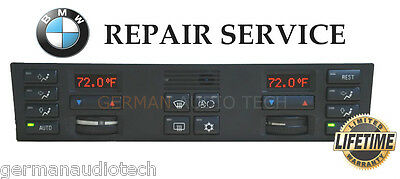 Bmw 1995 1996 E38 7-Series 740 750 Climate Control Display -Pixel Repair Service