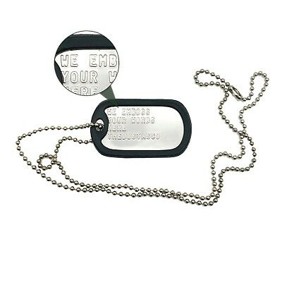 Single Set U.s. Personalised Stainless Steel Army Military Dog Tags -Thedogtagco