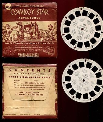Close Out Sale VIEW-MASTER 3 Packets: Cowboys, Dale Evans, Fiddler on the Roof