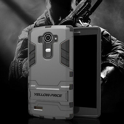 2015 NEW LG G4 Case [PROTECTIVE Case] Hybrid Armor Shockproof Stand Cover