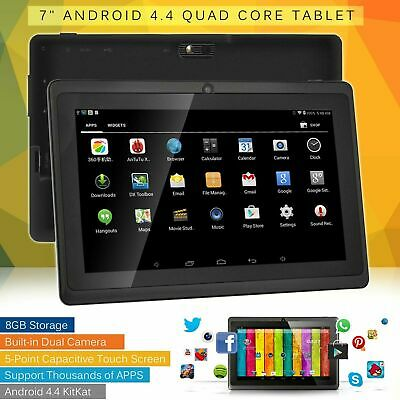 New 7″ Android 4.4 Quad Core Dual Camera WiFi Bluetooth Tablet PC 8GB UK