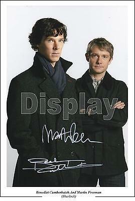 Benedict Cumberbatch And Martin Freeman Signed Photo,Sherlock Size A4 Pre-Print