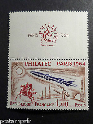 FRANCE 1964 timbre 1422, PHILATEC '64, Expo, neuf**