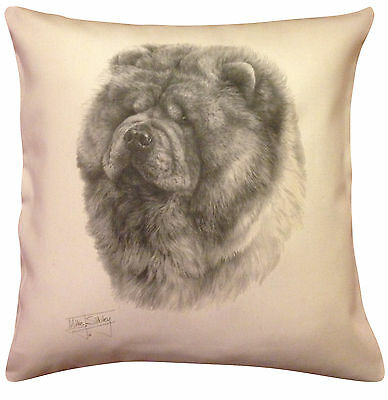 Chow Chow MS Cotton Cushion Cover - Choice of Cream or White - Gift Item