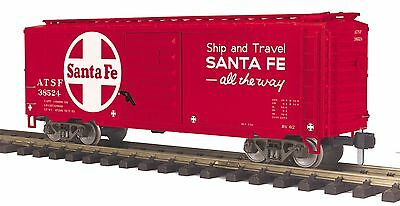 MTH 70-74086, One Gauge, 40' Box Car - Santa Fe #38524
