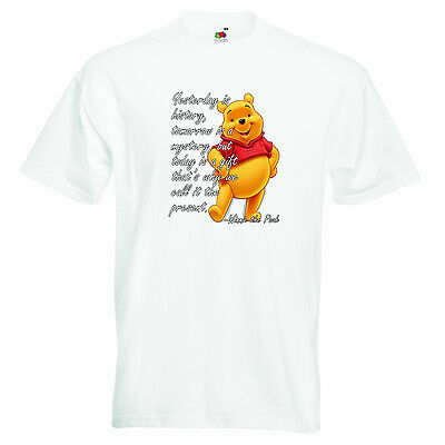Yesterday is History Winnie Pooh Personalized Baby Boys Girls Unisex T-shirt