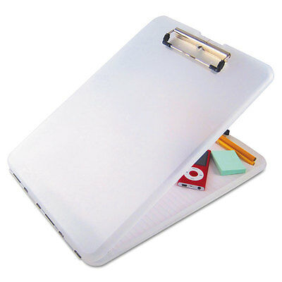 """Saunders Slimmate Storage Clipboard, 1/2"""" Capacity, Holds 8.5w X 12h, Clear"""