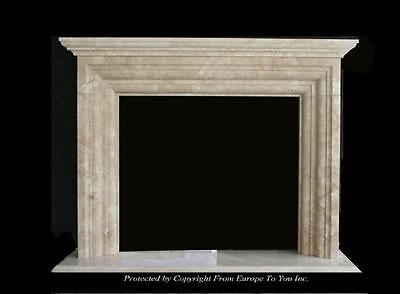 Beautiful Hand Carved Marble Estate Fireplace Mantel - Jd54