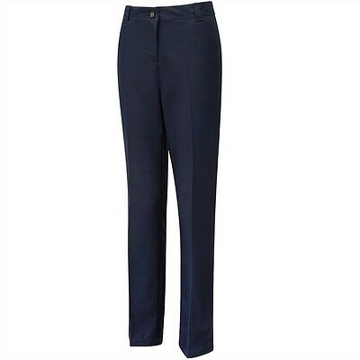 """Cypress Point Classic Golf Trousers Navy Blue 100% Polyester 10 12 14 16 32"""" Leg"""