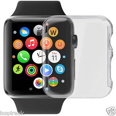 Full Cystal Clear Slim Thin Hard Snap On Case Cover For Apple Watch iWatch 42mm