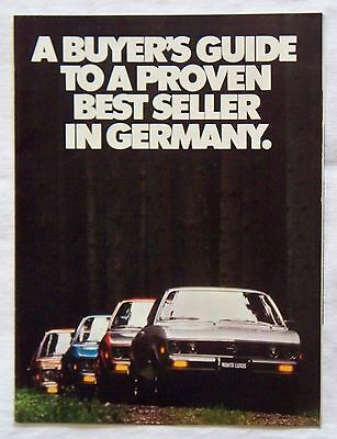Vintage 1974 Opel Car Auto Magazine Ad Insert 18 Pages