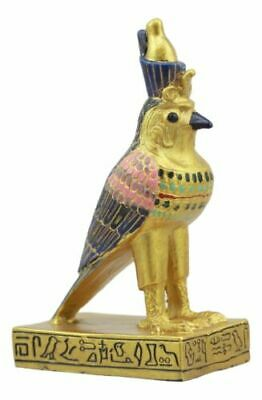 Egyptian God Of The Sky And War Horus Falcon Bird Dollhouse Miniature Statue