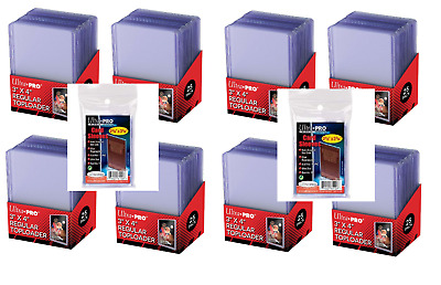 (200) Ultra Pro 3x4 Toploaders and Sports Trading Card Topload Holders + Sleeves