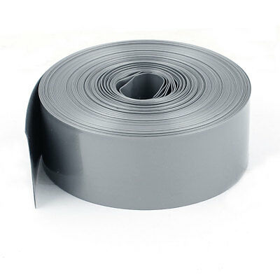 33Ft 10M Long 23mm Width Gray PVC Heat Shrinkable Tubing Wrap for 1 x AA Battery