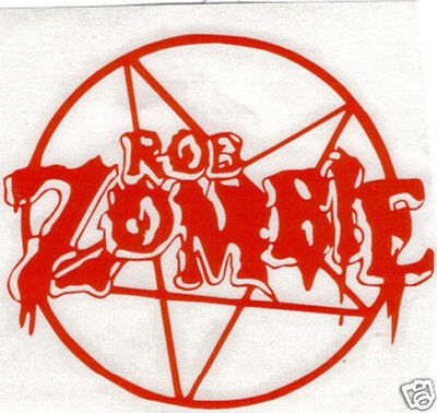 Rob Zombie Peel And Rub On Vinyl Decal !