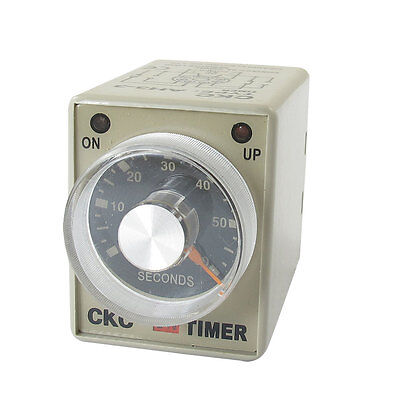 AC 24V 0-60 Seconds 60s Plastic Housing Delay Timer Time Relay 8 Pin AH3-3