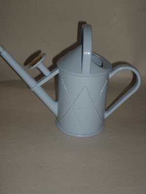 New Haws Heritage Indoor Plastic Watering Can Brass Rose 1 Litre Duck Egg Blue