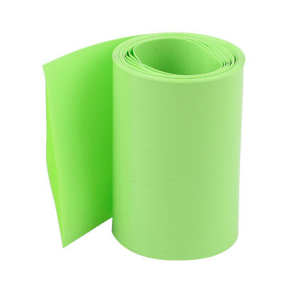 5M 64mm Width PVC Heat Shrink Wrap Yellow Green for AA Battery Pack