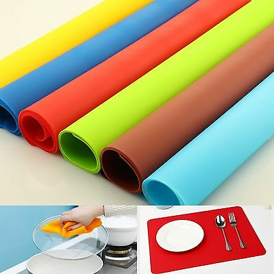Silicone Flexible Table Mat Pad Liner Placemat Waterproof Non Slip Protector Lot