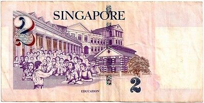 SINGAPORE 1999 ND 2 DOLLAR BANK NOTE in a Protective Sleeve