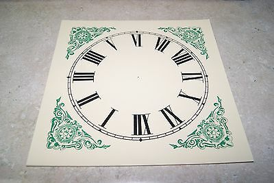 Paper O.g. Dial New  Wall / Mantel Clock Parts Ivory Color