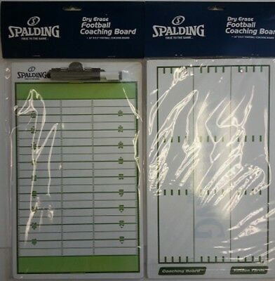 "Spalding Dry Erase Football Coaching Board / Coaches Board - Size 16"" x 9.5"""